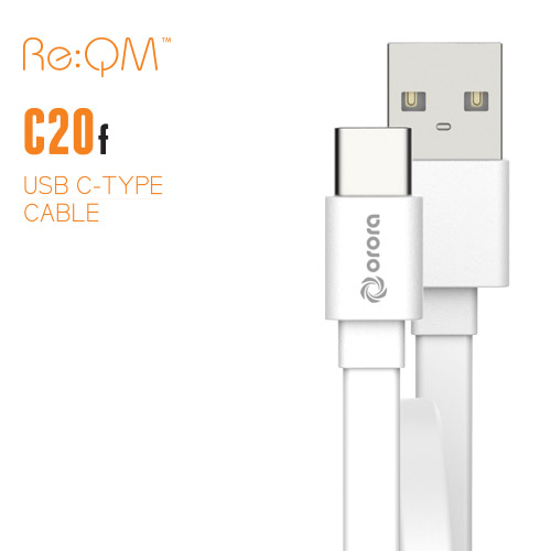 [Re:QM] USB Type-C 플랫 케이블 20cm (C20F)