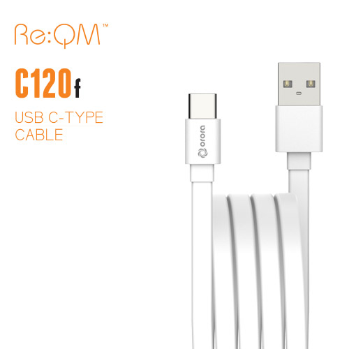 [Re:QM] USB Type-C 플랫 케이블 120cm (C120F)