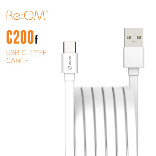 [Re:QM] USB Type-C 플랫 케이블 200cm (C200F)